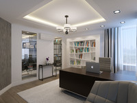 contemporary home office interior