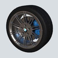 wheel bmw 3d obj