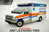 generic ambulance v6 3d max