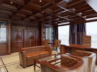 3d model classic home office interior