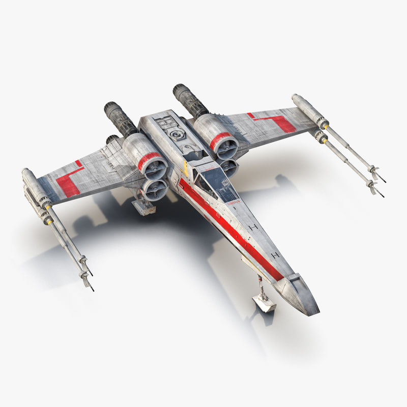 Star Wars X-Wing Starfighter Red 3d model 00.jpg
