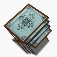 3d t-gong glass table set