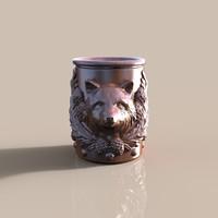 cup fox 3d model