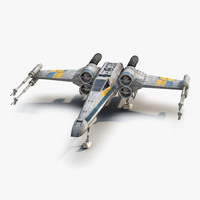 star wars x wing 3d model