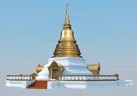 thai pagoda 3d max