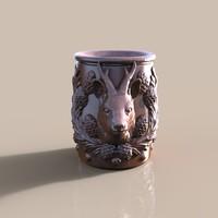 3d model cup roe deer