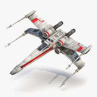 star wars x wing 3d max