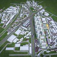 Residential and Industrial Urban Area