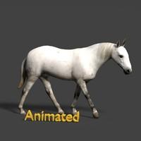 horse 3d blend