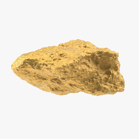 gold nugget 01 3d max