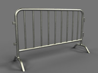 3ds max metal barrier