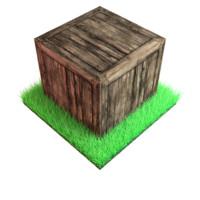 medieval wooden box 3d model