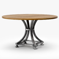 3ds max alameda pedestal table