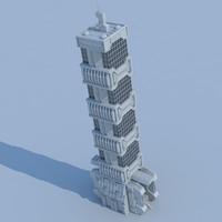 3d model building02 building structure