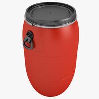 3d max barrel plastic