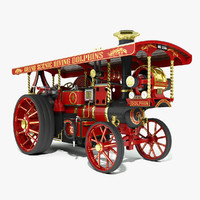 burrell steam road locomotive 3d max