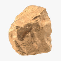 3d c4d gold nugget 02