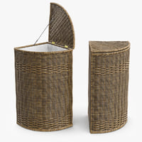 wicker laundry basket rattan max