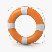 3d model of life buoy