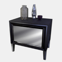 modern nightstand 3d 3ds