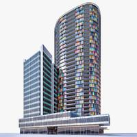 residential building walls 3d max