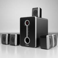5 1 speaker 3d max