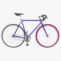 3d model fixed gear bicycle