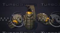 3d model hand grenade mk2
