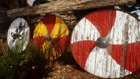 3d viking age roundshield ready model