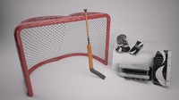 3d model netminder equipment goal