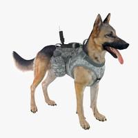 3d model military dog 3