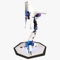 3d futuristic turret tower model