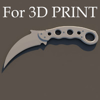 knife karambit print 3d model