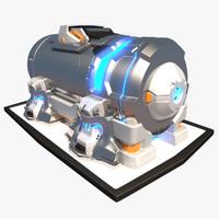 max futuristic sci-fi container
