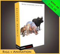3d model of pack african animals