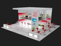 booth exhibition stand dwg