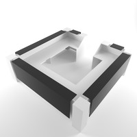 information desk low poly