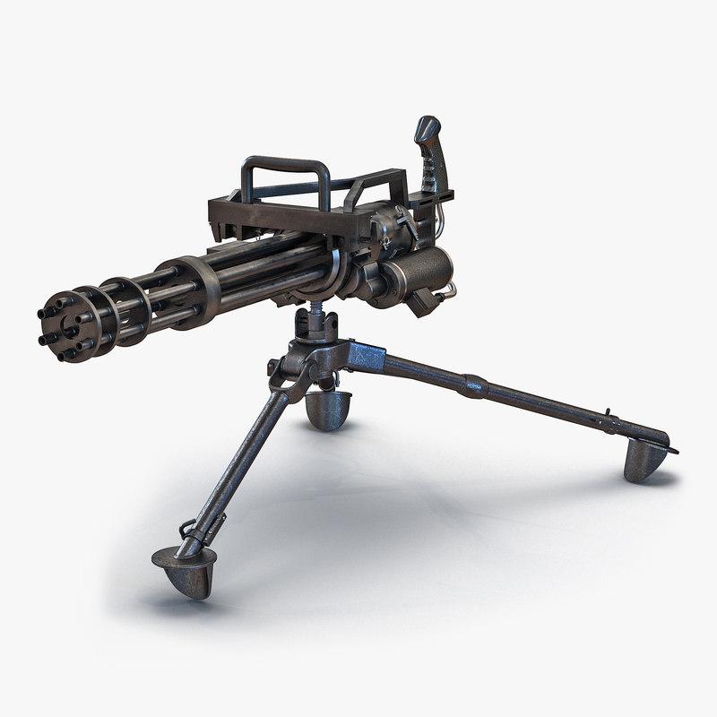 Minigun Tripod Mount 3d model 00.jpg