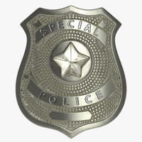 Special Police Hat Badge