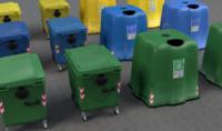 3d model of garbage bins