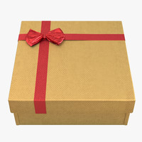 3ds max giftbox 4 yellow