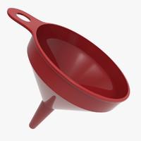 plastic funnell 3d model