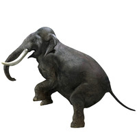 photorealistic elephant rigged obj