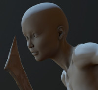 3d zbrush posed female model