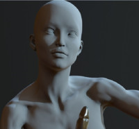 zbrush posed female character 3d obj