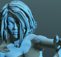 big female 3d obj