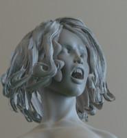 3d zbrush female vampire 7