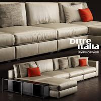 3d model sofa ditre italia