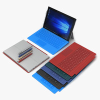 Microsoft Surface Pro 4 + Multi Color Type Cover & Pen