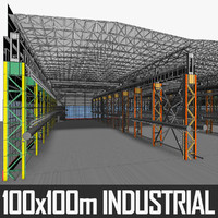 industrial building interior 3d max